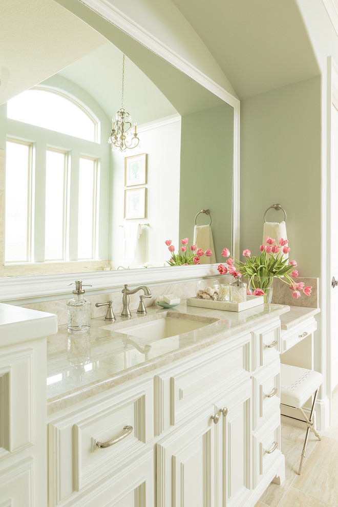 Delta Cassidy Faucet Bathroom Traditional with Blue Green Brushed Nickel Hardware Large Mirror