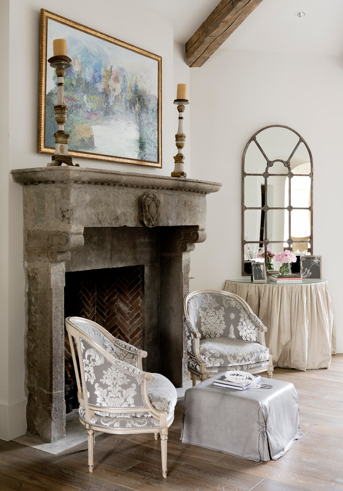 Demilune Table Living Room Shabby Chic with Arch Mirror Armchairs Beam Candles Demilune Table
