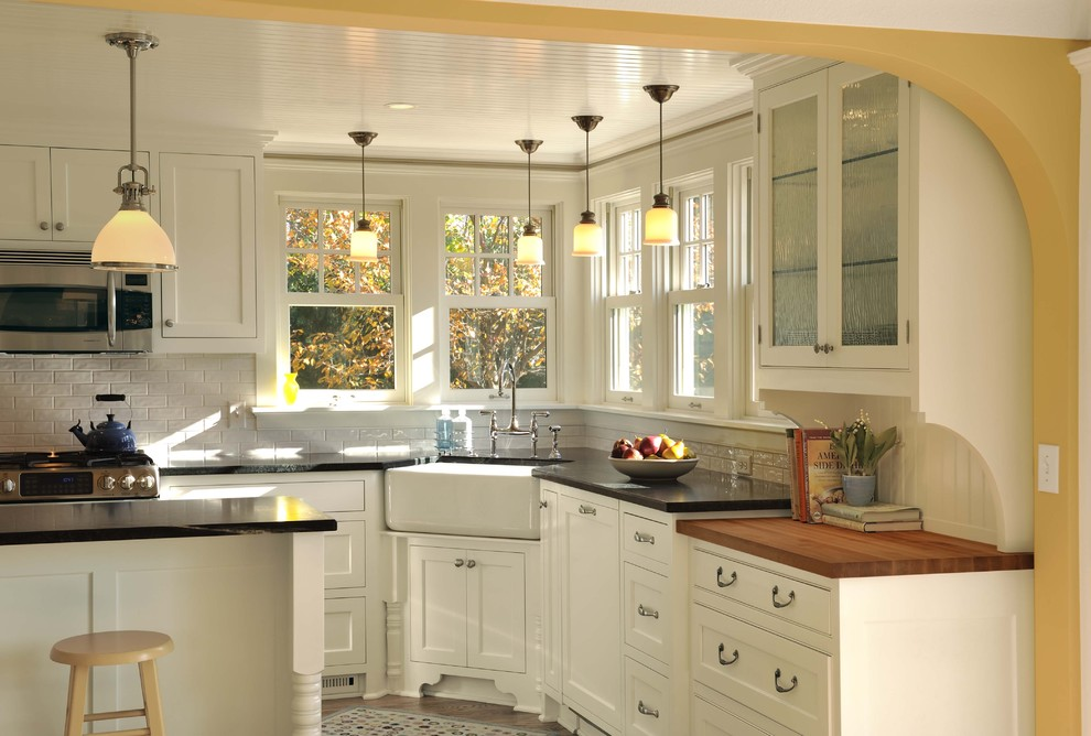 Dish Drainers Kitchen Traditional with Apron Sink Butcher Block Corner Sink Counter