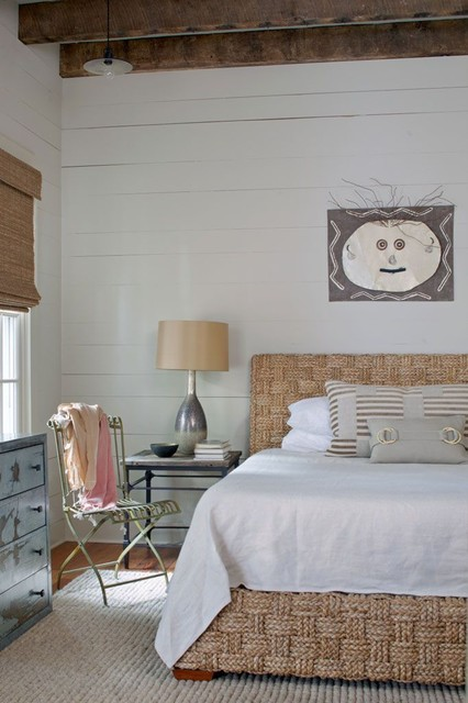 Distressed Dresser Bedroom Beach with Distressed Dresser Metal Folding Chair Metallic Table Lamp Rope