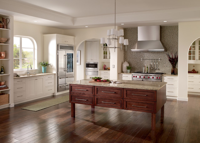 Distressed Hardwood Flooring Kitchen Traditional with Categorykitchenstyletraditionallocationunited States