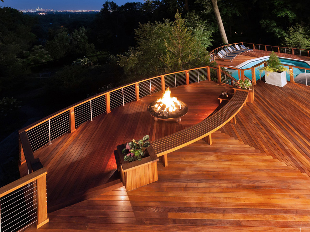 Diy Gas Fire Pit Deck Modern with Cable Railings Cablerail Deck Railings with Cable
