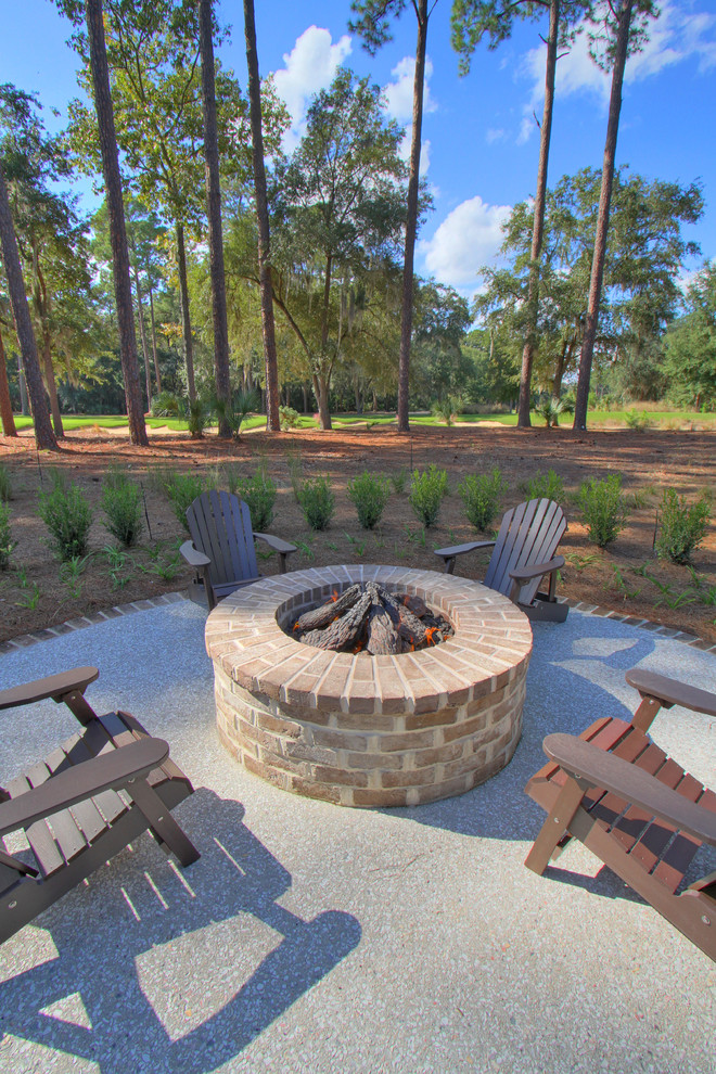 Diy Gas Fire Pit Patio Traditional with Adirondack Chairs Brick Paving Fire Pit Hedge1