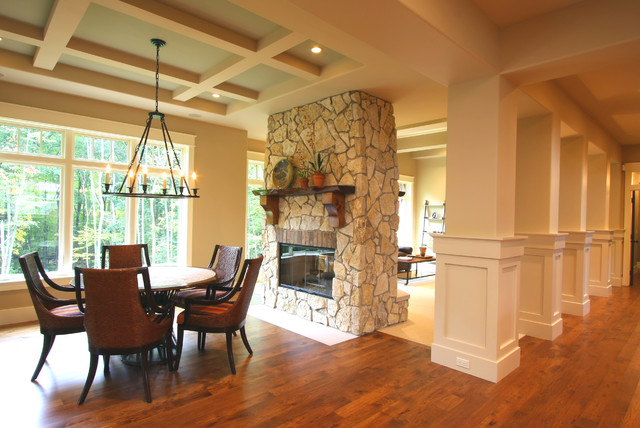 Double Sided Carpet Tape Dining Room Traditional with Candelabra Coffered Ceiling Fame and Panel Round Dining Table