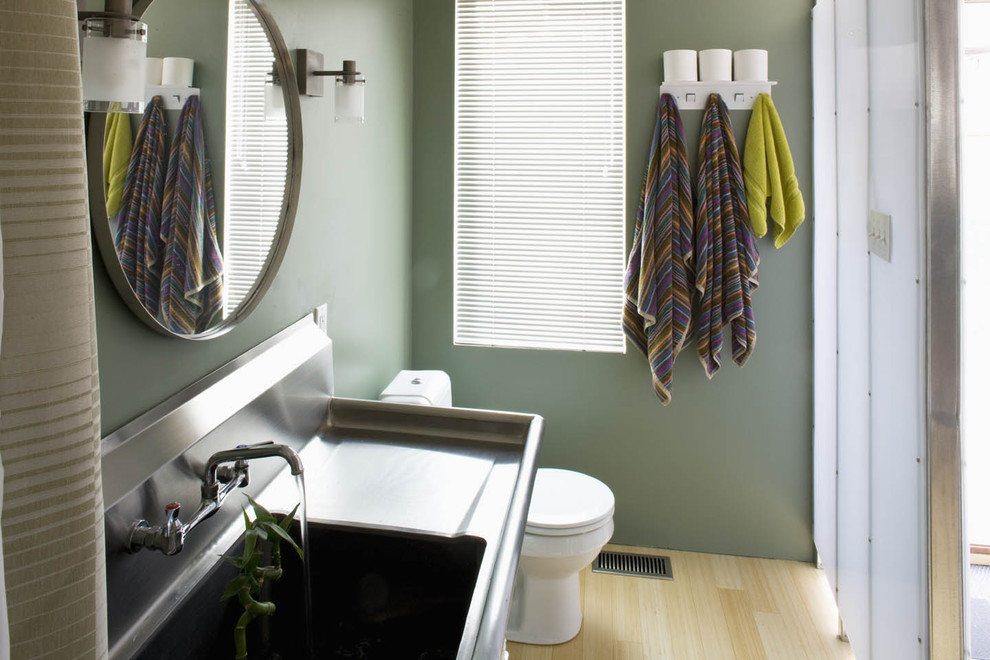 Drainboard Sink Bathroom Industrial with Back Splash Blue Budget Green Integrated Sink
