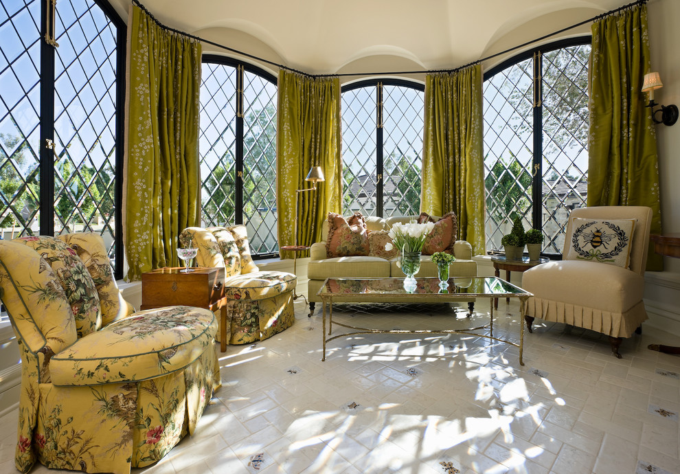 Drapery Rods Living Room Traditional with Bay Window Casement Windows Coffee Table Curtains