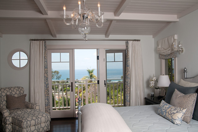 Drapes vs Curtains Bedroom Traditional with Bed Pillows Curtains Dark Floor Drapes Exposed Beams Neutral