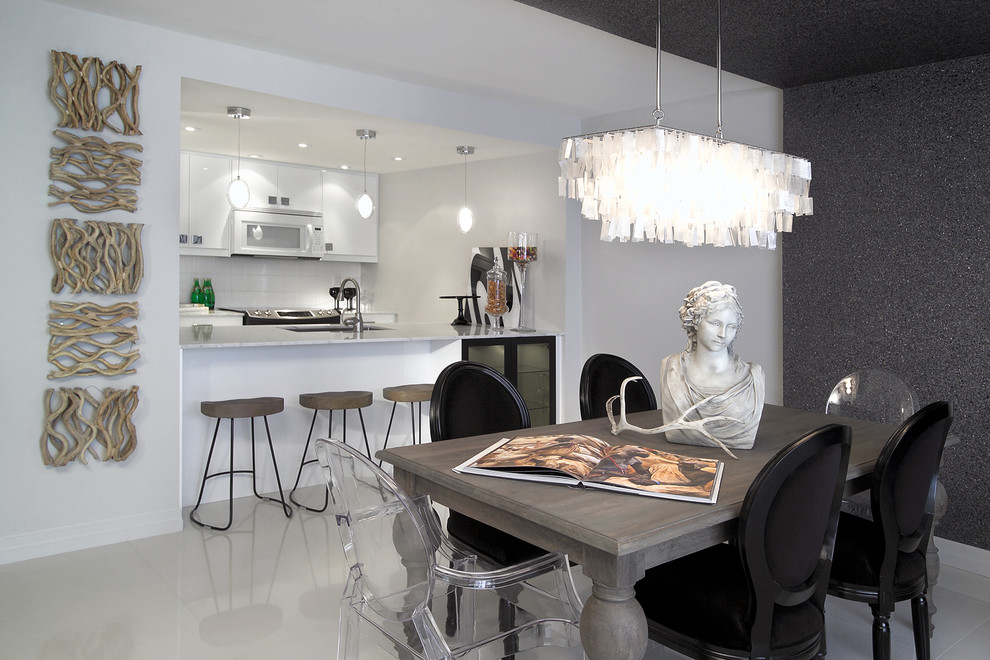 Driftwood Chandelier Dining Room Contemporary with Accent Wall Acrylic Chair Black Dining Chairs