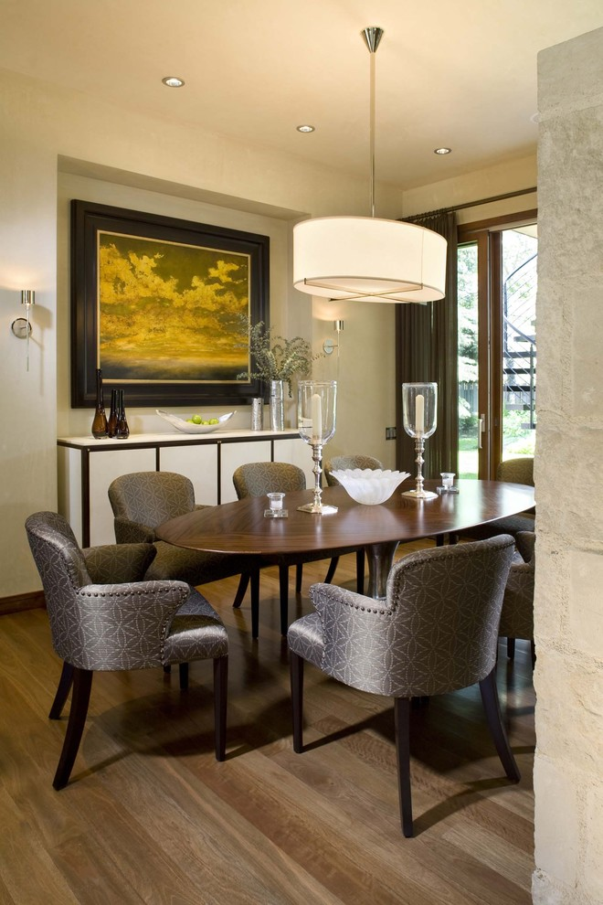 Drum Light Fixture Dining Room Traditional with Art Ceiling Light Credenza Elegant Oval Table