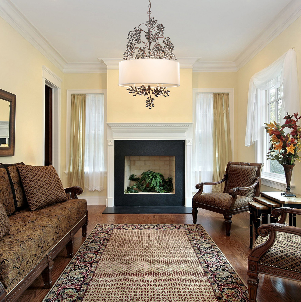 Drum Shade Chandelier Living Room Traditional with Antique Darkwood Chandelier Black Marble Fireplace Branch