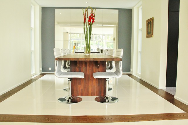 Duraceramic Dining Room Modern with Center Piece Dining Chairs Dining Table Modern Dining Chairs
