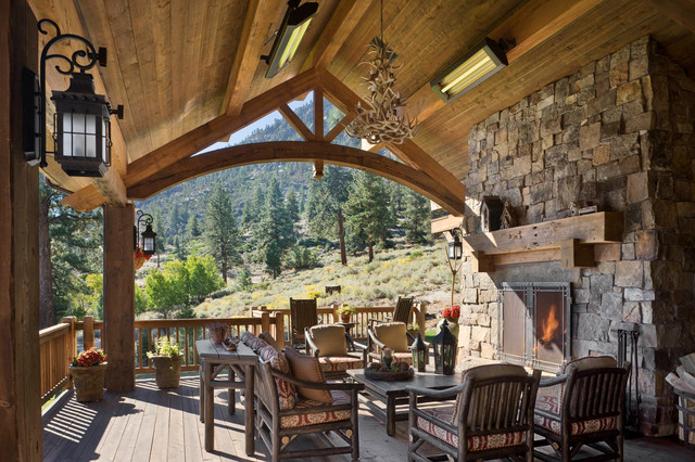 Duraflame Electric Heater Deck Rustic with Covered Deck Deck Fireplace Heaters Indoor Outdoor Living Lake
