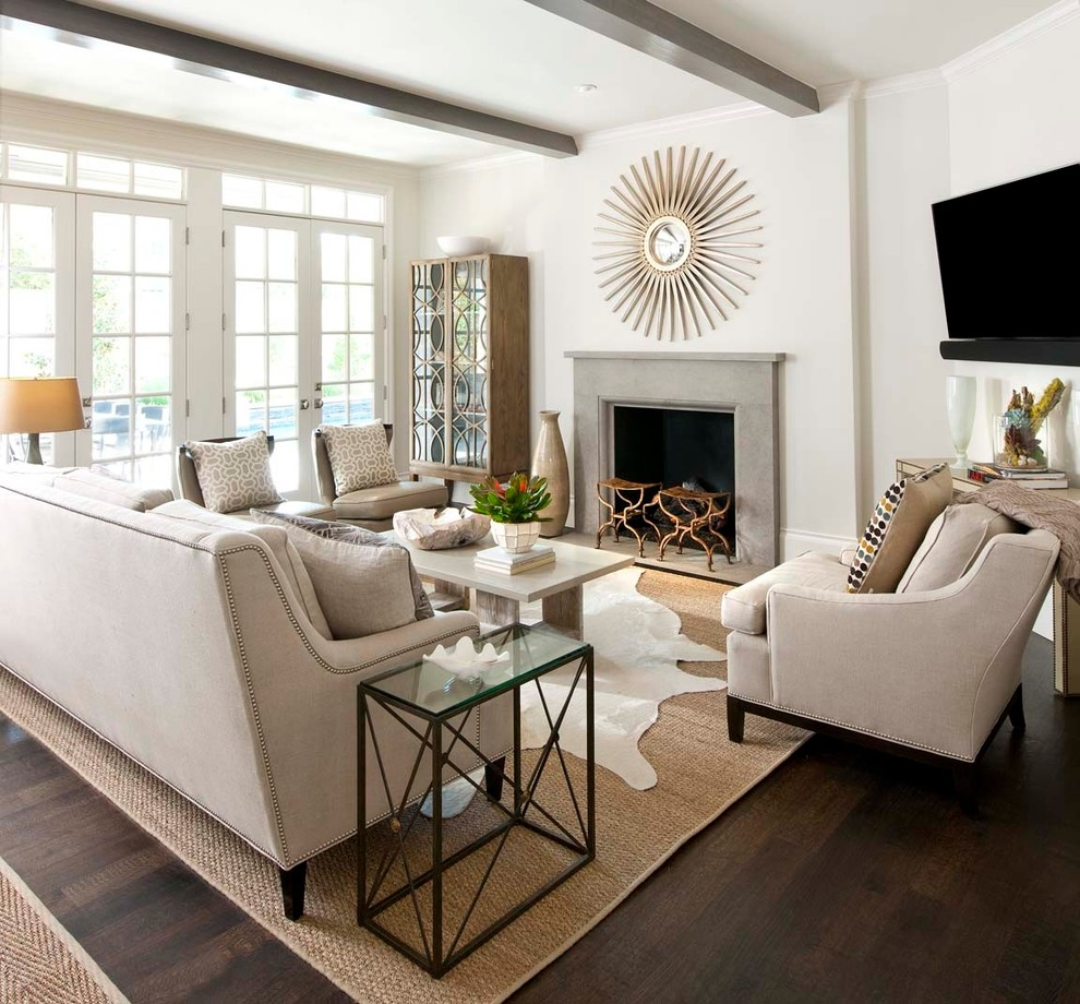 Duraseal Stain Family Room Traditional with Beams Ceiling Beams Clean Coffee Table Fireplace1