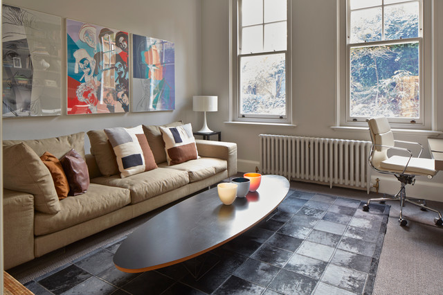Eames Office Chair Living Room Scandinavian with Beige Couch Brown Pillows Cowhide Rug Eames Chair Eames