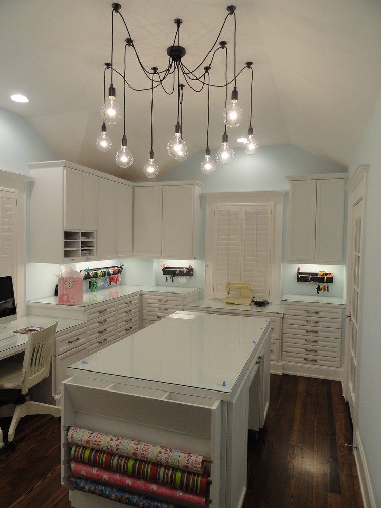 edison chandelier home office traditional with built in desk craft room desk drawer storage chandelier home office lighting