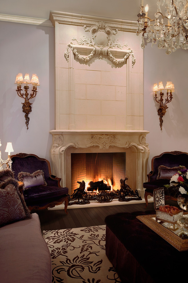 Electric Fireplace Logs Living Room Traditional with Adjustable Calgary Cast Stone Cast Stone Fireplace