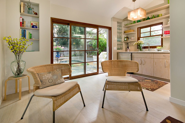 Electric Radiant Floor Heating Family Room Contemporary with Award Winning Contractor Bay Area Benjamin Moore Beverage Center Book