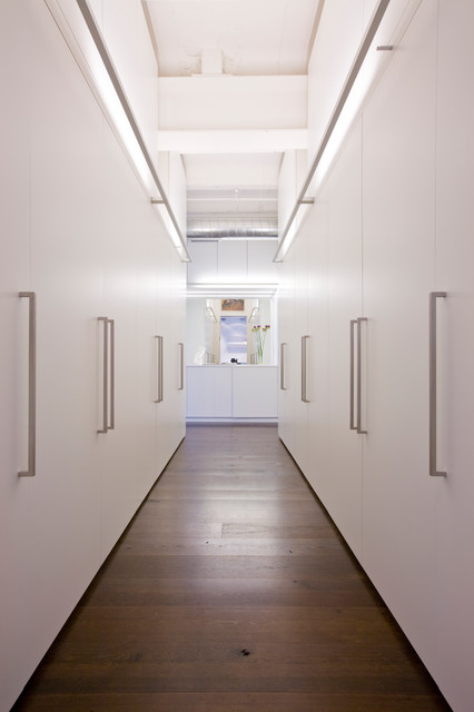 Elfa Storage Closet Contemporary with Airy All White Art Built in Built in Storage