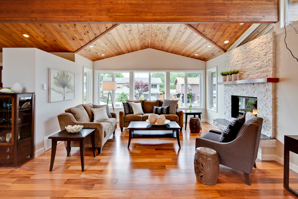Engineered Hardwood Floors Living Room Transitional with Armchair Black Coffee Table Chinese Garden Stool