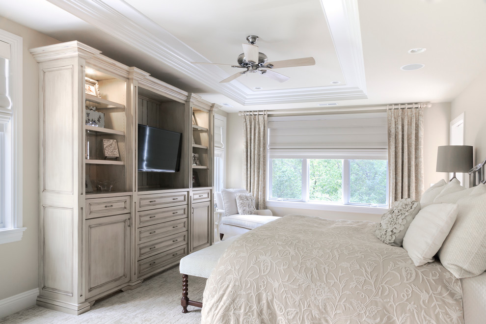 Entertainment Centers for Flat Screen Tvs Bedroom Traditional with Baseboard Beige Bedding Beige Carpet Beige Ceiling