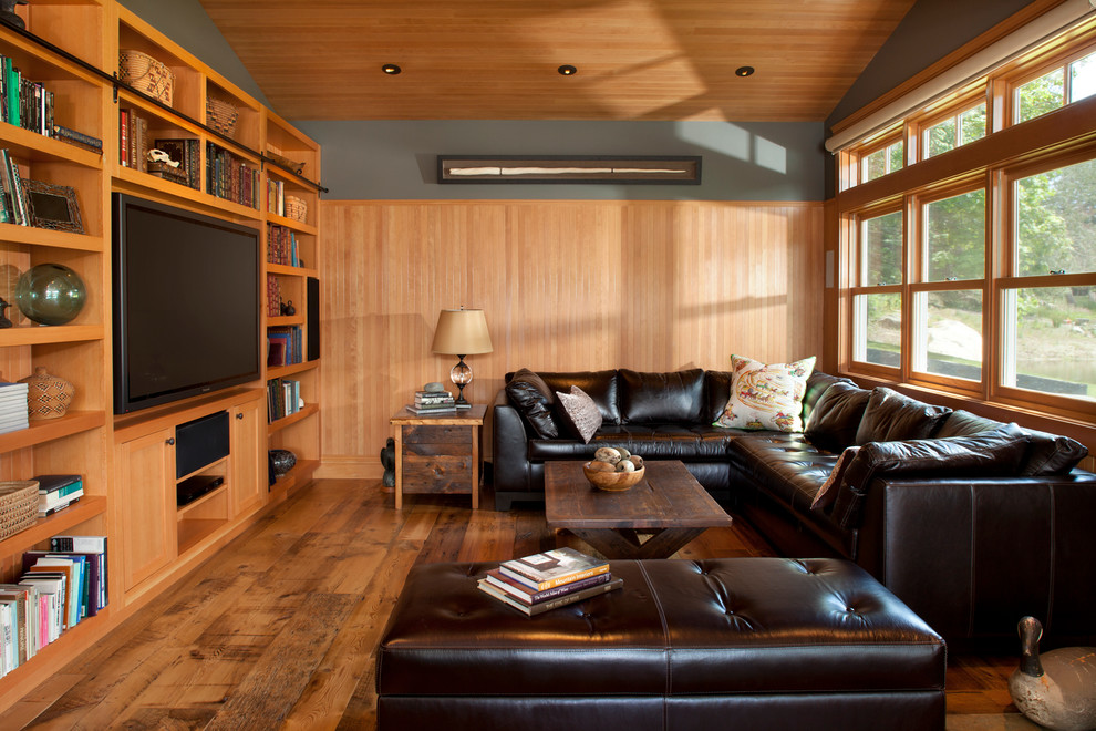 Entertainment Centers for Flat Screen Tvs Living Room Traditional with Bc Black Leather Ottoman Black Leather Sectional