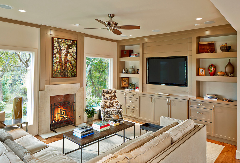 Entertainment Centers for Flat Screen Tvs Living Room Transitional with Art Above Fireplace Artwork Beige Sectional Sofa