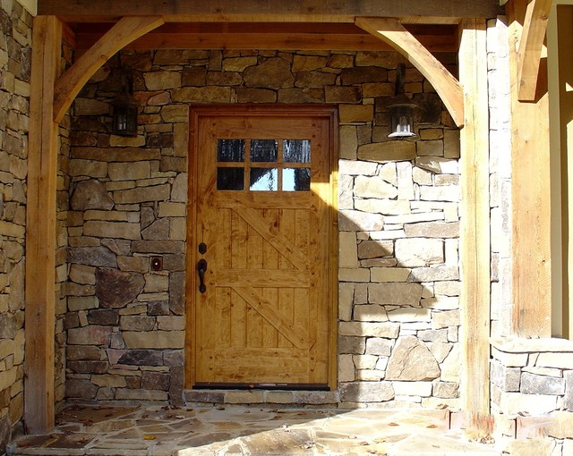 Entry Door with Sidelights Entry Rustic with Distressed Wood Door Entryway Lake Lake House Lake View1