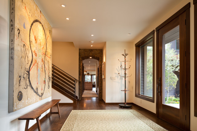 Entryway Bench and Coat Rack Entry Contemporary with Baseboards Ceiling Lighting Coat Rack Entry Bench Foyer Hat