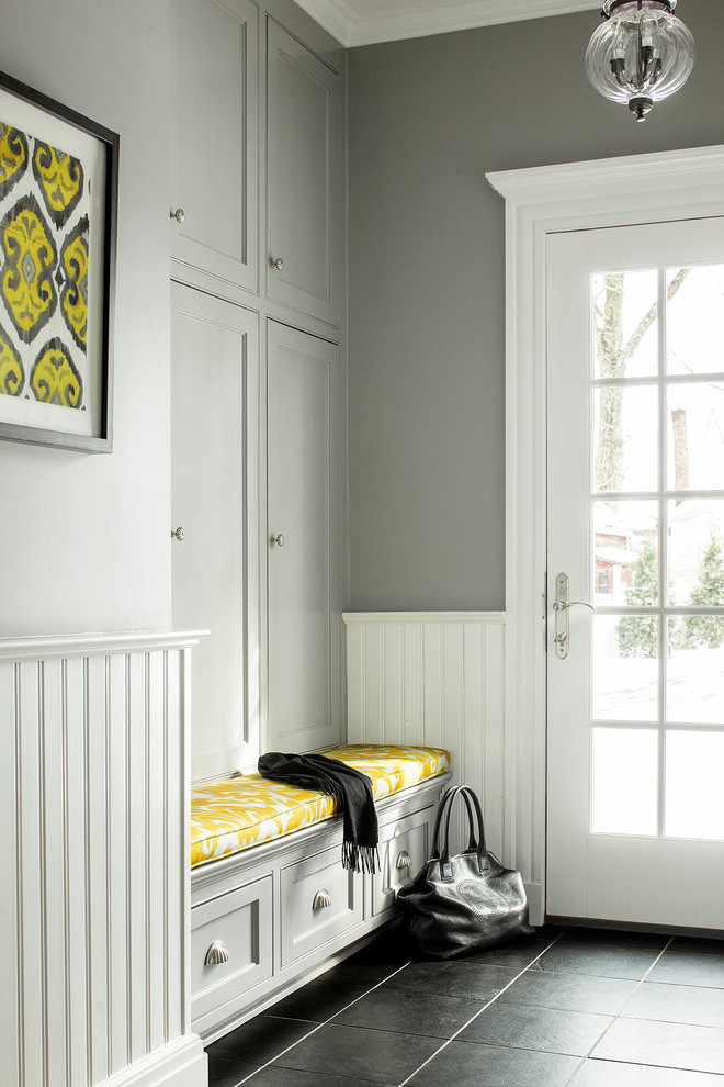 Entryway Bench With Storage Entry Traditional With Beige