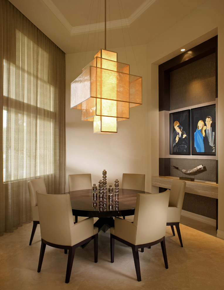 Entryway Chandelier Dining Room Contemporary With Beige Carpet