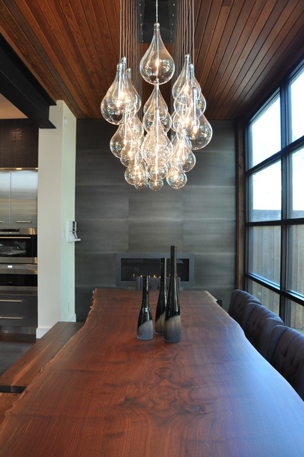 Et2 Lighting Dining Room Contemporary with Fireplace Gas Fireplaces Kitchen