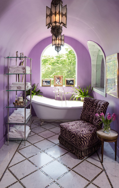 Etageres Bathroom Mediterranean with Arched Window Armless Chair Banded Tile Bathroom Shelving Diamond