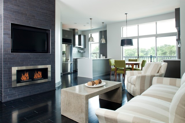 Ethanol Fireplaces Living Room Contemporary with Atlanta Beige Chair Coffee Table Contemporary Decatur Design Build Family