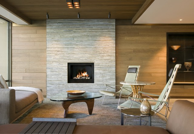 Faux Stone Wall Panels Living Room Contemporary with Los Angeles Architects Los Angeles Interior Designers Mid Century Modern