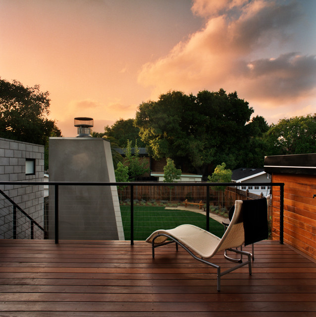 Feeney Cable Rail Patio Contemporary with Back Yard Cable Railing Concrete Block Wall Landscaping Lawn