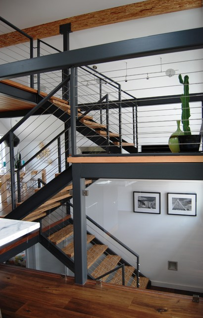 Feeney Cable Rail Staircase Contemporary with Beam Cable Railing Cable Rails Cable Stair Railing Cactus