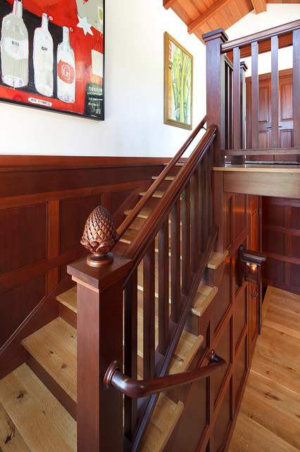 Finials Staircase Eclectic With Artwork Banister Beams Finial Frame