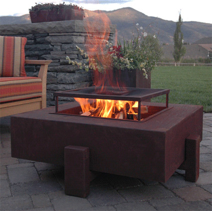 firepit kit Patio Contemporary with fire pit modern natural gas propane steel wood