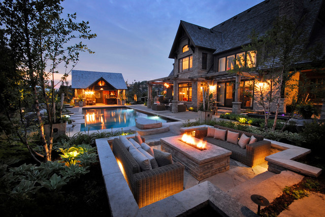 Firepit Kit Patio Transitional with Contemporary Pool Firepit Landscaping Outdoor Entertaining Patio Pool Pool