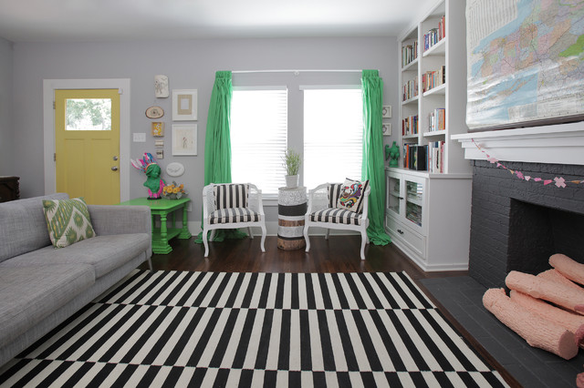 Fireplace Fronts Living Room Shabby Chic with Black and White Rug Black Fireplace Books Built In