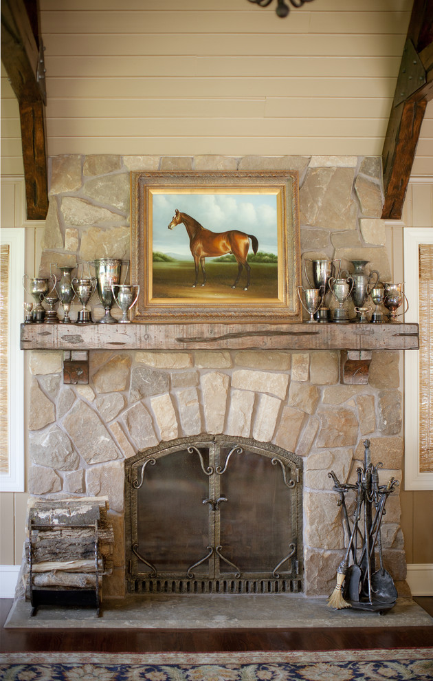 Fireplace Mantel Designs Family Room Traditional with Antique Trophies Family Room Fireplace Hearth Fireplace