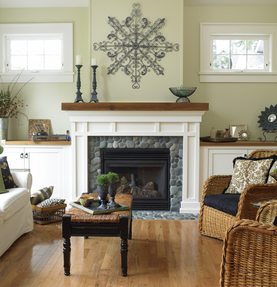 Fireplace Mantel Designs Living Room Traditional with Basket Storage Built in Cabinets Cabinets Cape