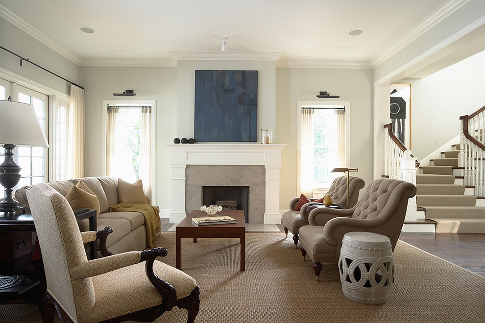Fireplace Mantel Kits Living Room Traditional with Area Rug Crown Molding Curtains Drapes Fireplace1