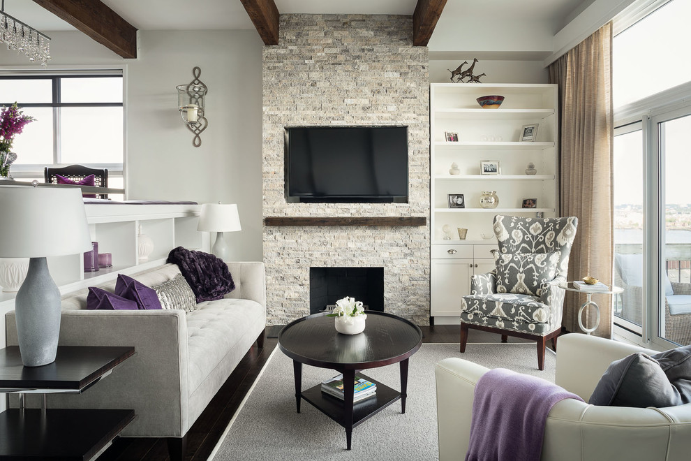 Fireplace Refacing Living Room Contemporary with Beige Curtains Beige Leather Sofa Beige Rug