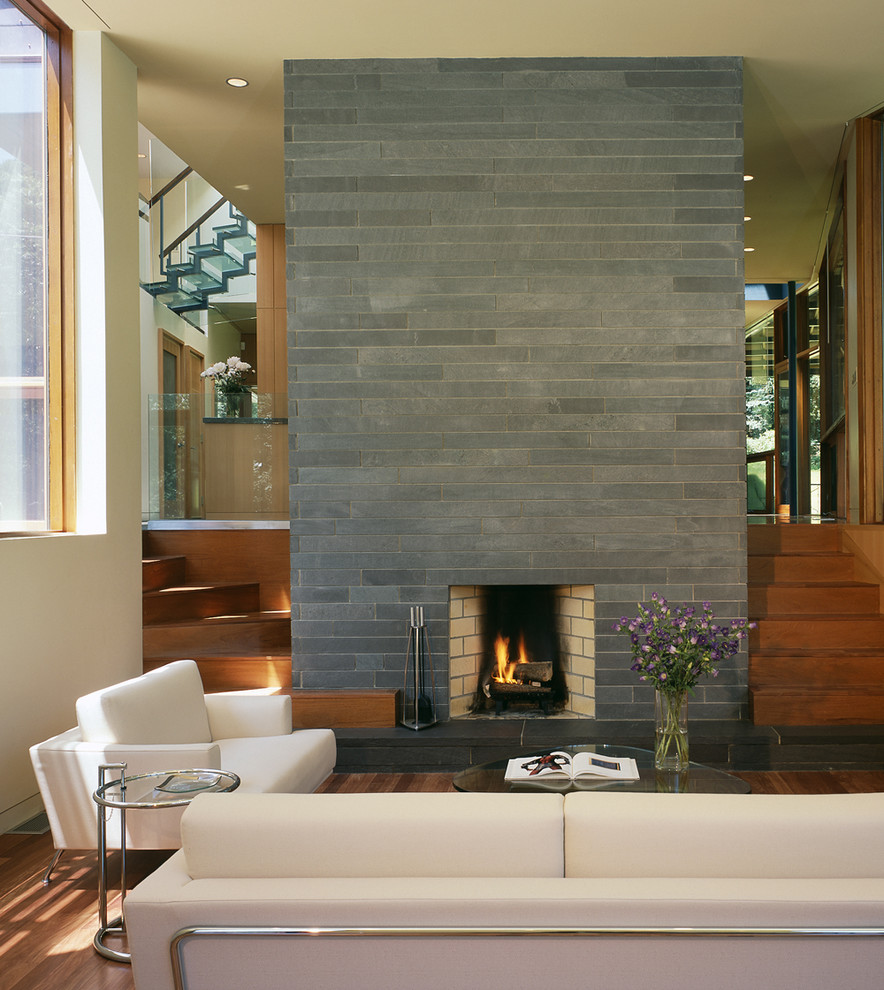Fireplace Refacing Living Room Contemporary with Brick Fireplace Surround Built in Stairs Minimal1