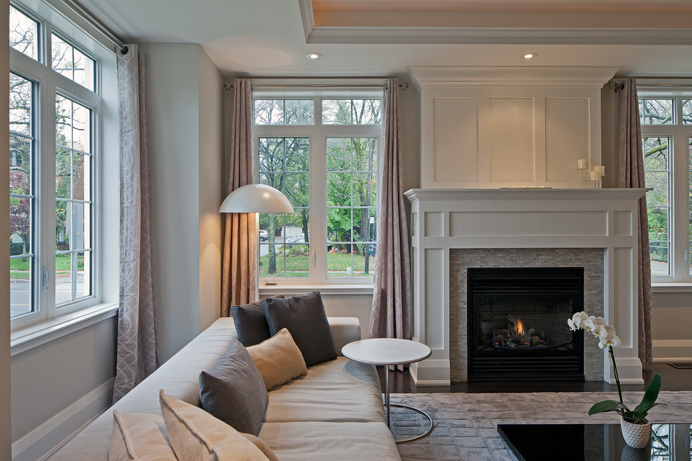 Fireplace Surround Kits Living Room Transitional with Area Rug Coffee Table Contemporary Sofa Fireplace1