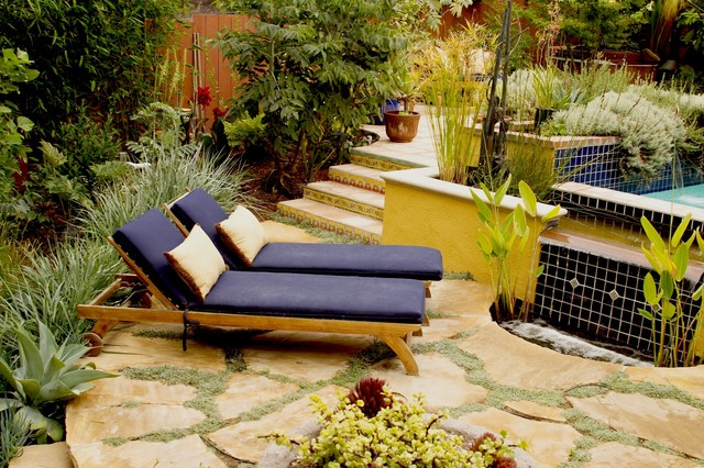 flagstones-Landscape-Mediterranean-with-agave-chaise-lounge ...