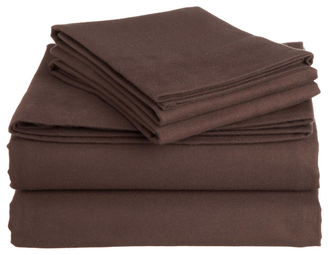 flannel sheet sets with 100 - 200 100-percentcotton Bedroom brown flannel italianroast queen