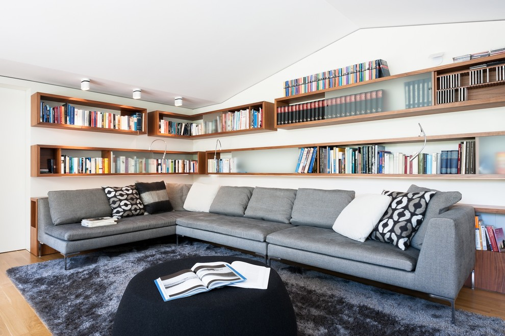 Floating Shelves Lowes Family Room Modern with Black Ottoman Book Storage Bookcase Bookshelf Floating