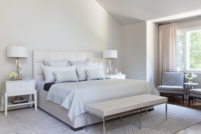 Florence Knoll Bedroom Transitional with Atherton Bedroom Bench Contemporary Design Interior Design Neutral Palette
